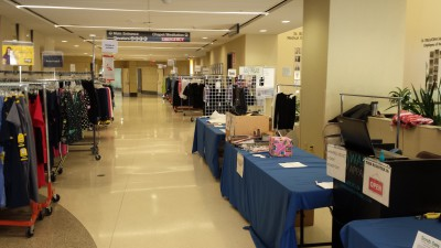 A full mobile uniform store we put on at a local hospital.